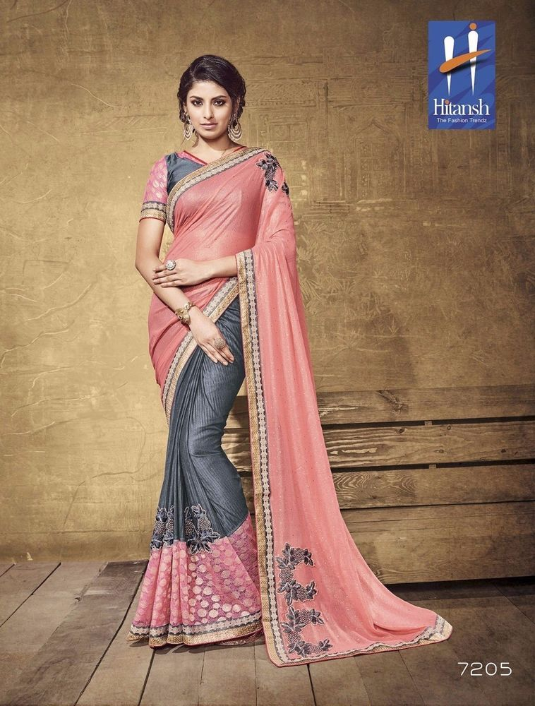 Buy 2 get 1 free Saree Designer Indian Pakistani Ethnic Bollywood Party Wear ST