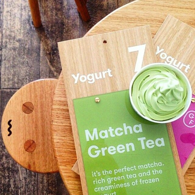 Matcha froyo goodness!  Anyone tried @yomgyogurt new Matcha green tea flavour yet?  Made with fresh yoghurt and @kenkotea matcha :) Check then out in Mornington, Malvern, Glen Waverley, Mordialloc, Mentone and Cairns