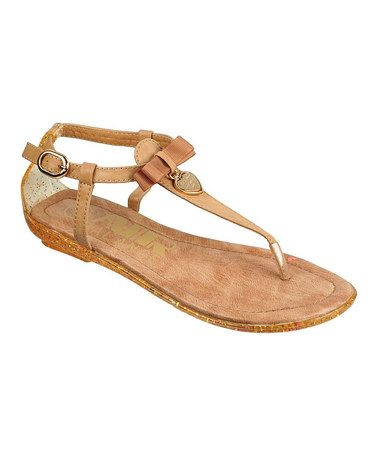 Take a look at this Camel Heart Charm Sandal by Air Balance on #zulily today!