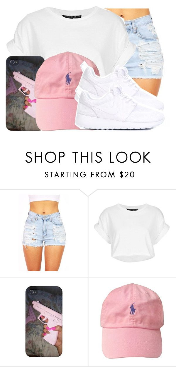 """""""Simple"""" by xmonishax ❤ liked on Polyvore featuring Topshop and NIKE"""
