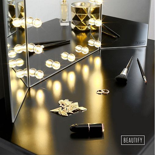 Tesco direct: Beautify Tri Fold 3 Way Vanity Dressing Table Mirror ...