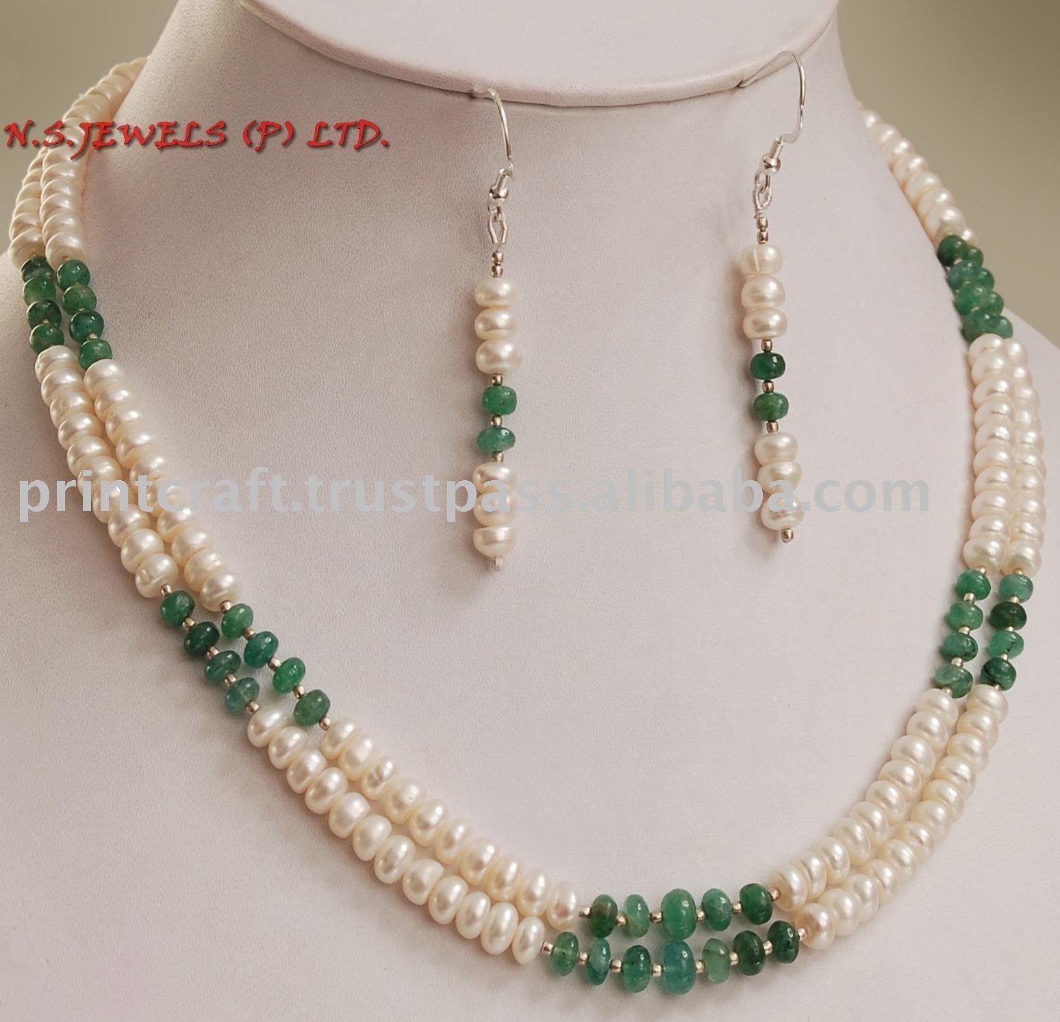 Hecho a mano natural de la perla piedra preciosa - Piedras para collares ...