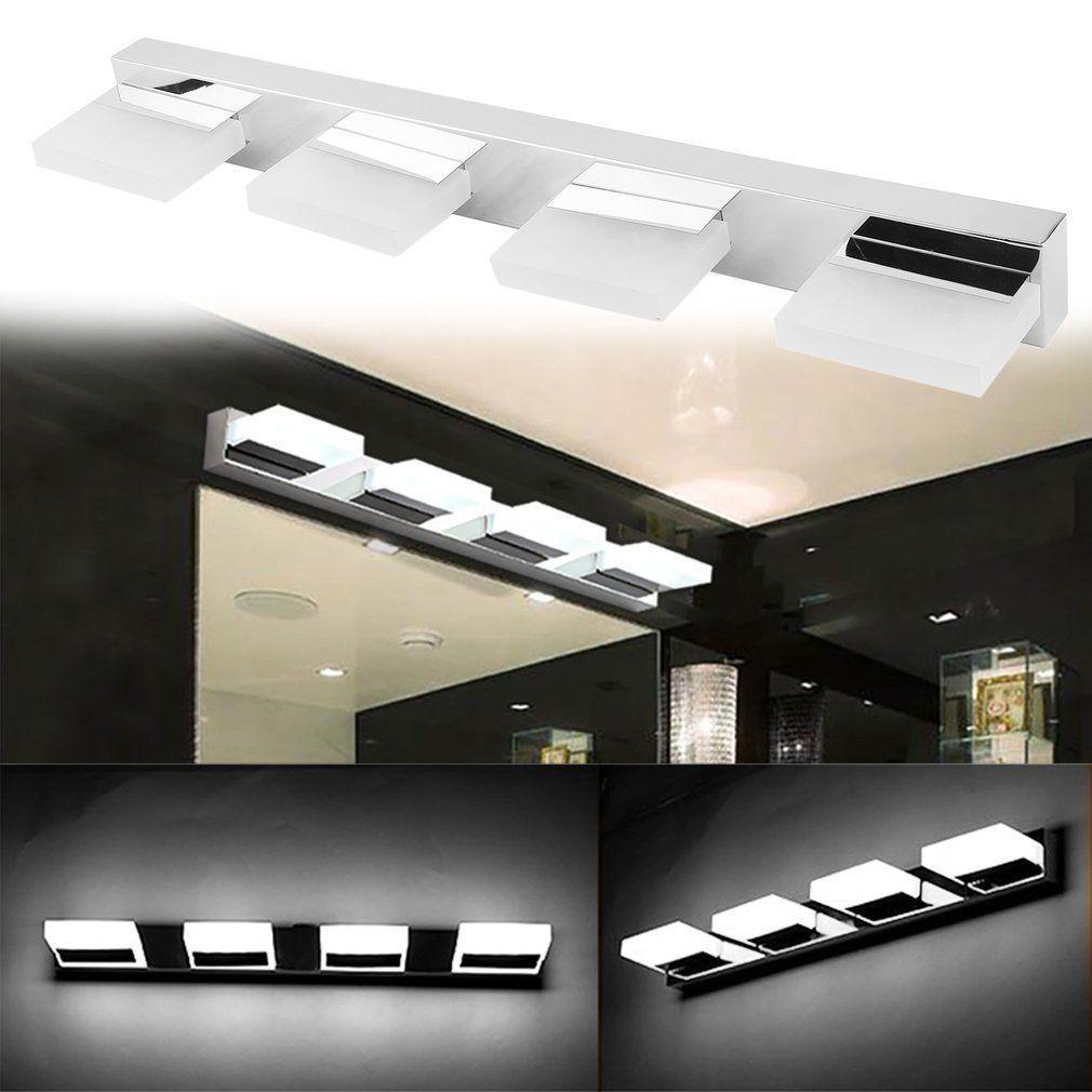 Modern Bathroom LED Crystal Mirror Light Front Wall Lamp Fixture Vanity Lights