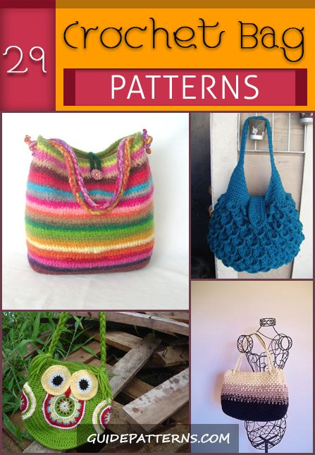 29 Crochet Bag Patterns | Guide Patterns | Crochet | Pinterest ...