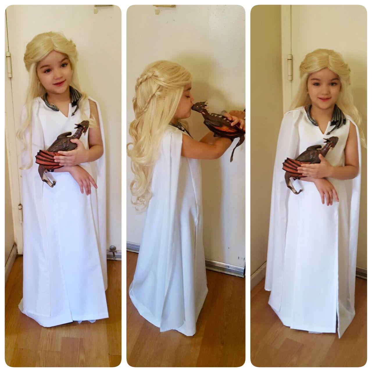 Game of thrones kids costume daenerys targaryen stormborn for Game of thrones daenerys costume diy