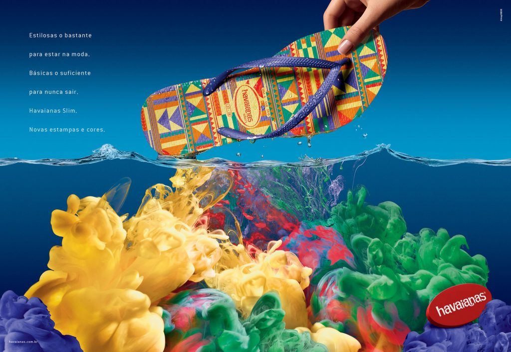 12 Splash Art By Mark Mawson Havaianas Art Direction Creative Advertising