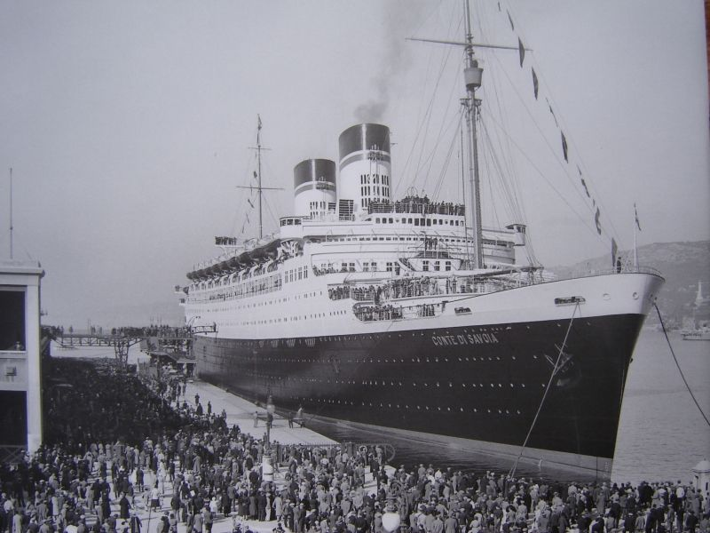 Italian Line CONTE DI SAVOIA S Ocean Liners Pinterest - 1930s cruise ships