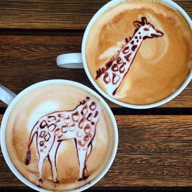 Coffee art: Giraffe