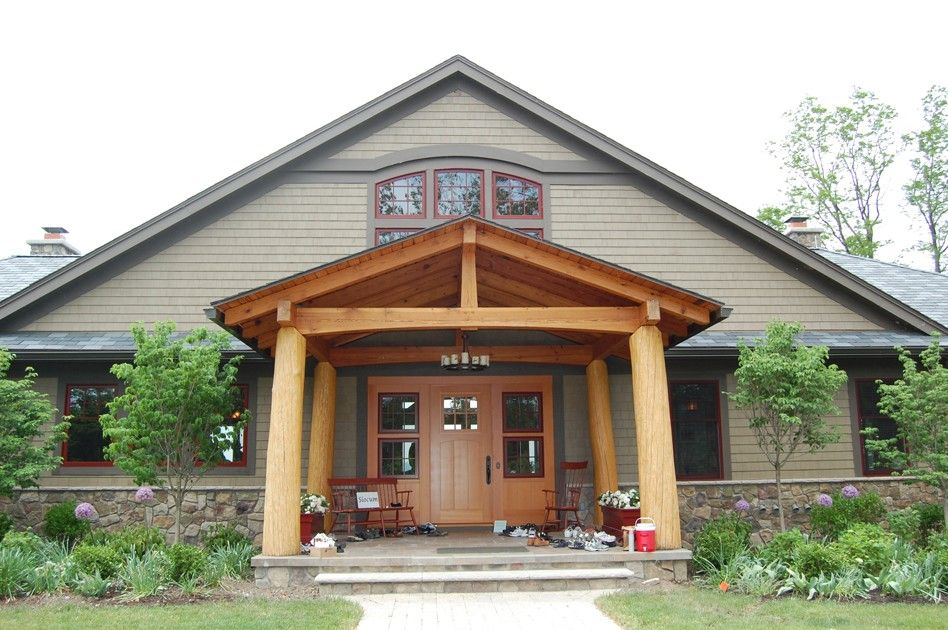 30 Awesome Timber Frame Porch Ideas Timber House Timber Frame