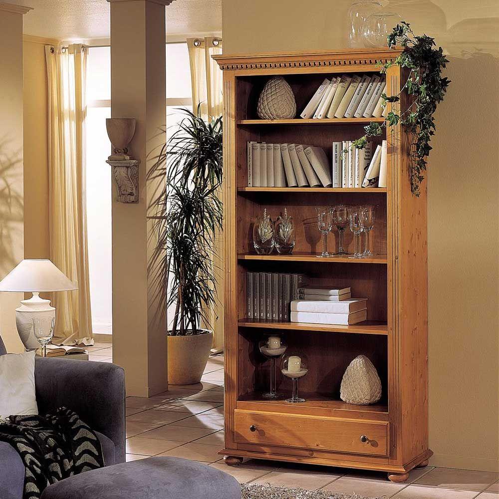 Landhaus Bücherregal aus Fichte Massivholz lackiert Jetzt bestellen ...