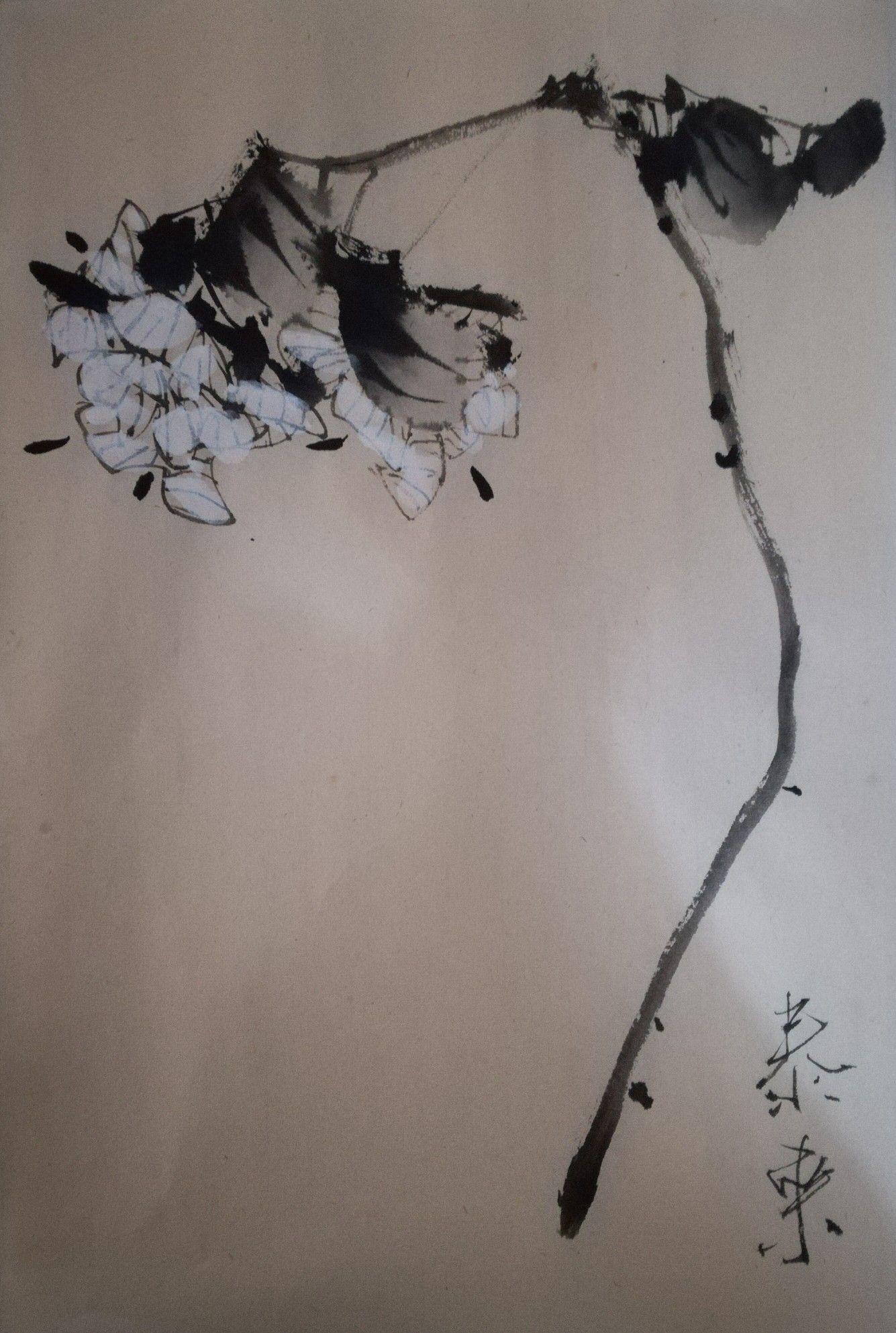 Chinesische Malerei Glanzender Mond Peng Guo Lan Xishi De