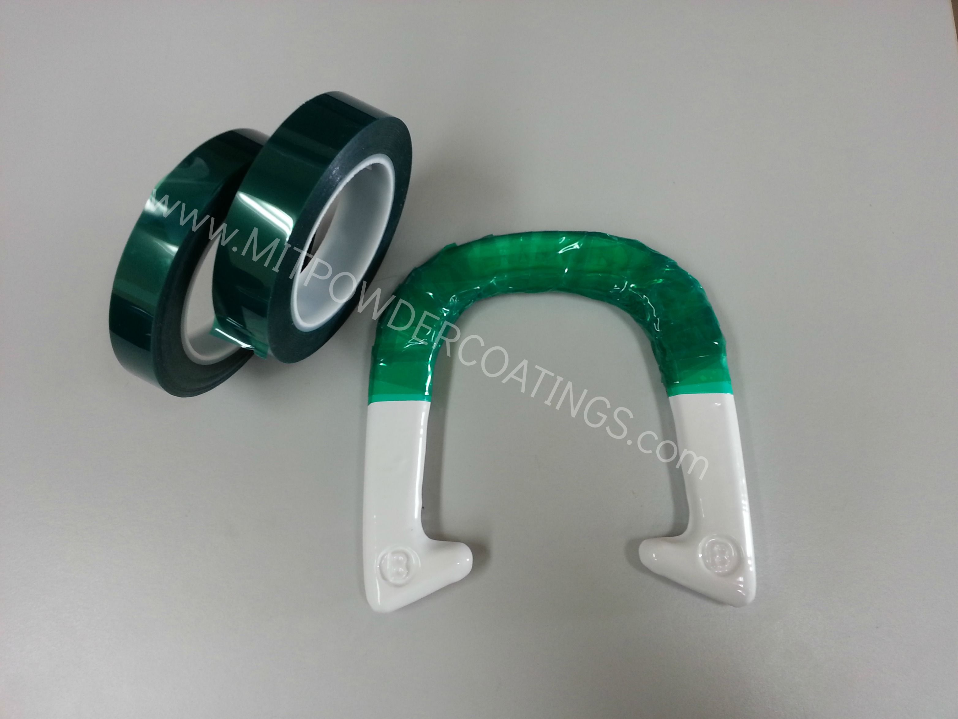 Polyester Heat Green Tape Horse Shoe Shown In Sky White Powder Coating Pesw 500 G9 By Mit Powder Coatings Http Masking Tape Powdercoating High Gloss White