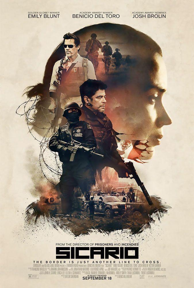 """En """"Sicario"""", una agente idealista del FBI (Emily Blunt) es enlistada por un oficial (Josh Brolin) para apoyar en la creciente guerra contra las drogas..."""