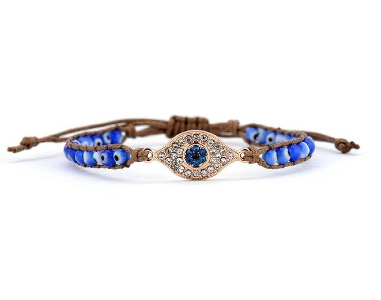 Evil Eye Bracelet Boho Blue Beads Adjustable * See this great product. (This is an affiliate link and I receive a commission for the sales)