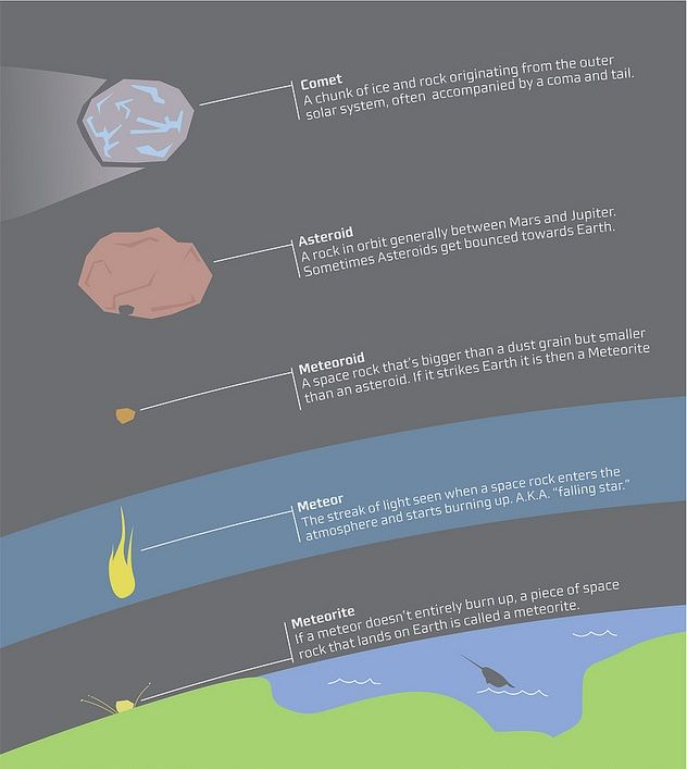 Science Physics Difference: Asteroid, Meteor, Meteorite And Comet: What's The