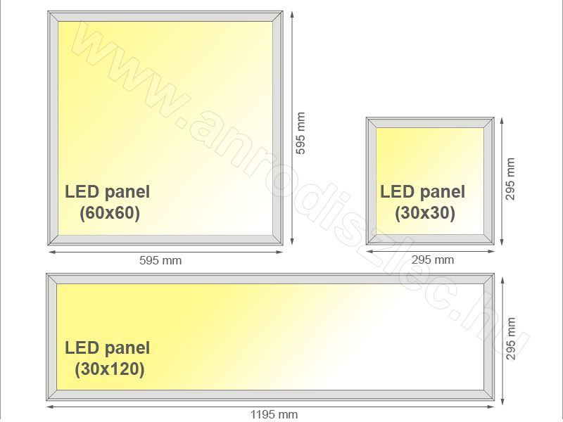 Led Panel 1200 X 300 Mm 45w Meleg Feher Utolso Darabok Led Panel Led Paneling