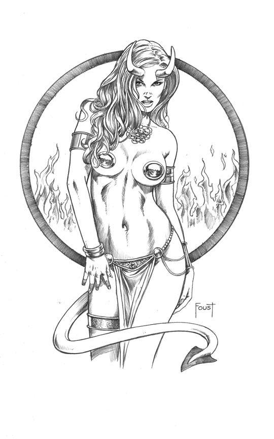 Devil Girl by MitchFoust.deviantart.com on @deviantART   Mitch Foust ...