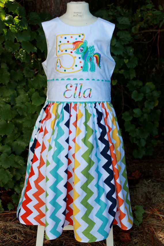 Rainbow Dash My Little Pony Party Dress Size 2 by damselsndragons ...