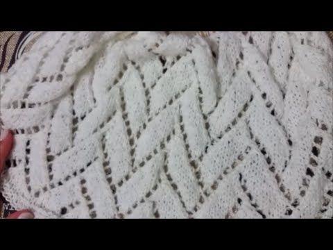 Punto fresa / Tejido con dos agujas 21 - YouTube | puntadas ...