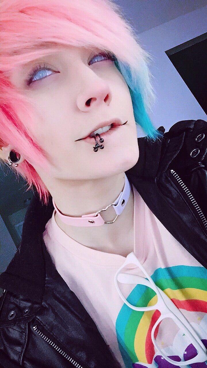Pastel goth boy tumblr fashion pinterest goth boy pastel