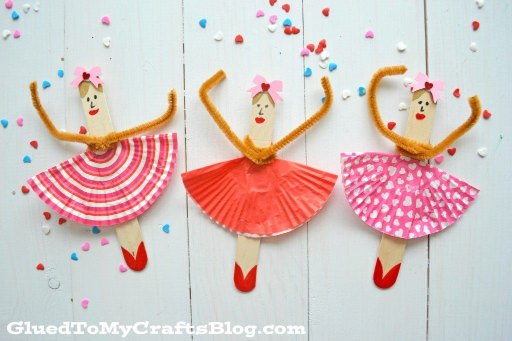 Popsicle Stick Ballerinas Kid Craft Naomis Craft Party Ideas