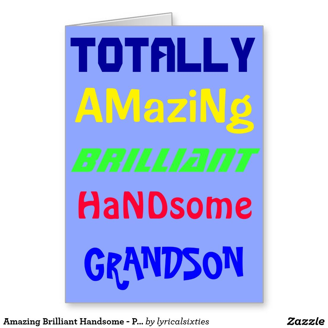 Amazing Brilliant Handsome Personalized Birthday Greeting Card