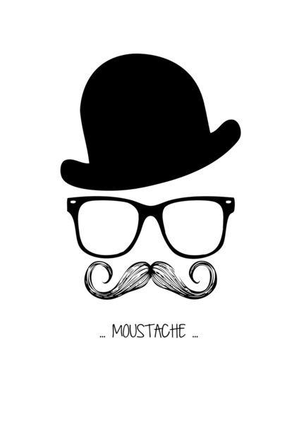 Mr Moustache Art Print By Mikeats Society6 Moustache Mustache Wallpaper Beard Logo Design