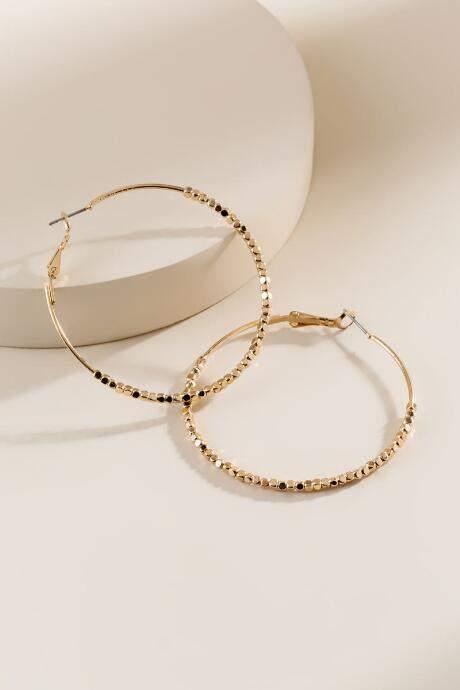 85c9b055f711c francesca's Velma Hoop Earrings - Gold in 2019 | Products | Earrings ...