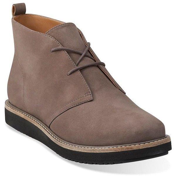 Womens Boots Clarks Glick Willa Taupe Nubuck