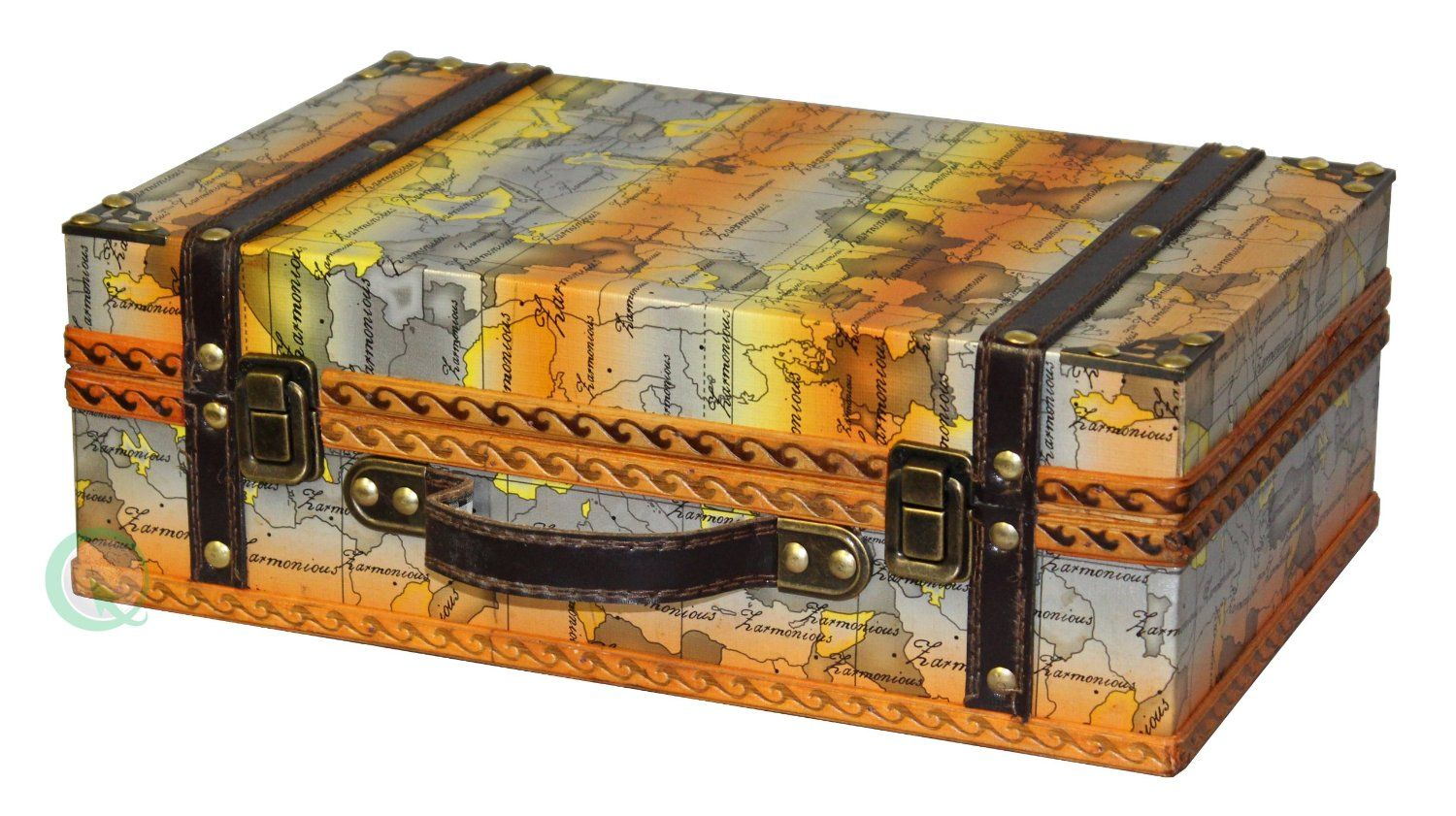 Amazon quickway imports old world map suitcasedecorative box amazon quickway imports old world map suitcasedecorative box trunks gumiabroncs Image collections