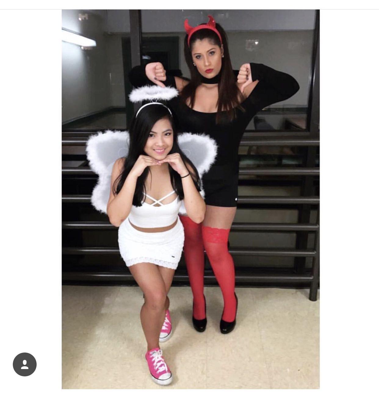 Heavenly devil halloween costume right! So