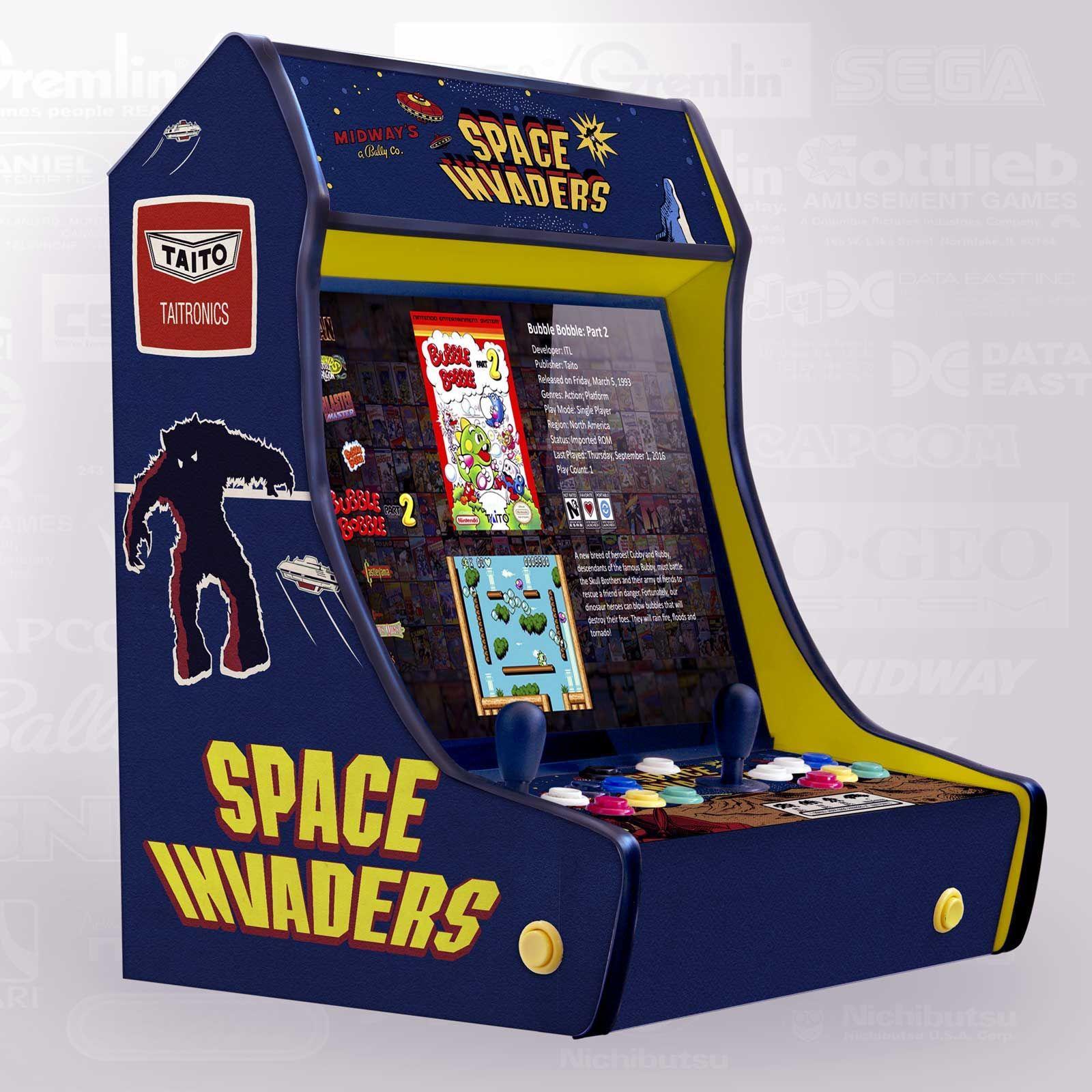 Máquina Arcade Bartop Modelo Spaceinvaders Arcade Juego De Arcade Maquinas Recreativas