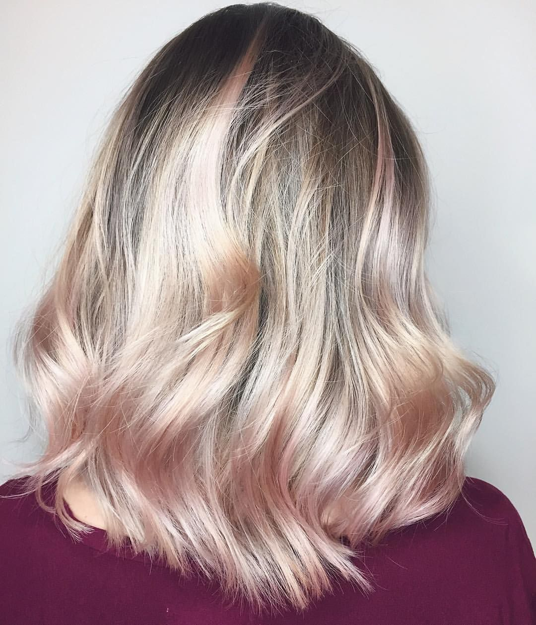 "669 Likes, 13 Comments - Chris Weber Hair (@chrisweberhair) on Instagram: ""#dustyrose #balayage 💖🌸💖 #chrisweberhair using @lorealpro to create this #look ✔ #vancouverblonde…"""