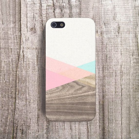 Wood Block Pink iphone case