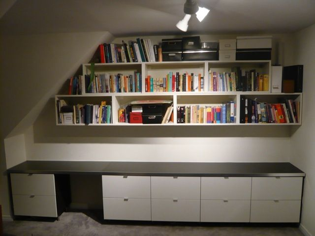 Jay Turns It Into A Fabulous Work Station With Ample Book Storage I Wanted Solid Built In Office Solution Heavy
