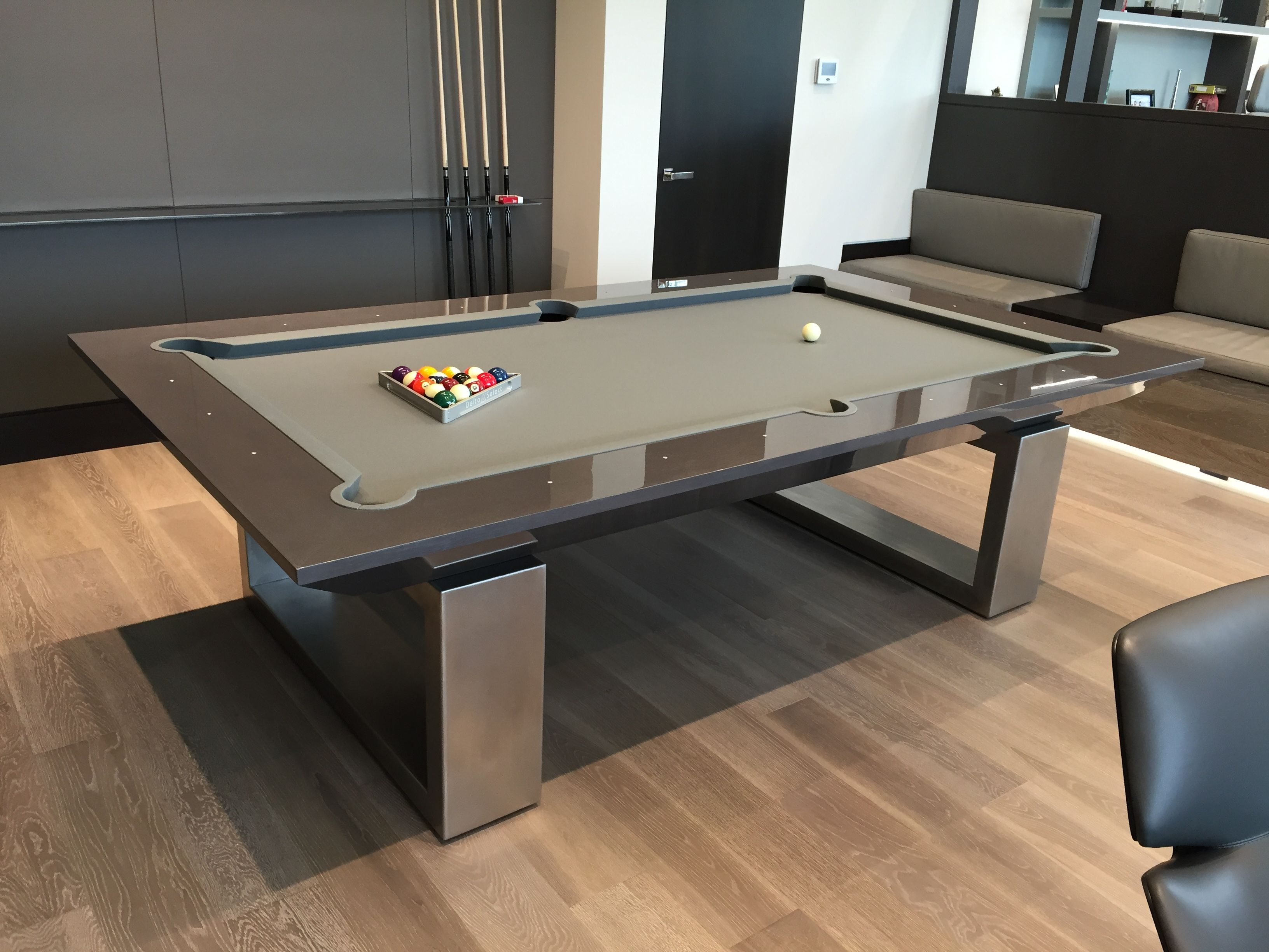 Contemporary Pool Table By MITCHELL Pool Tables Design By Bg - Chrome pool table