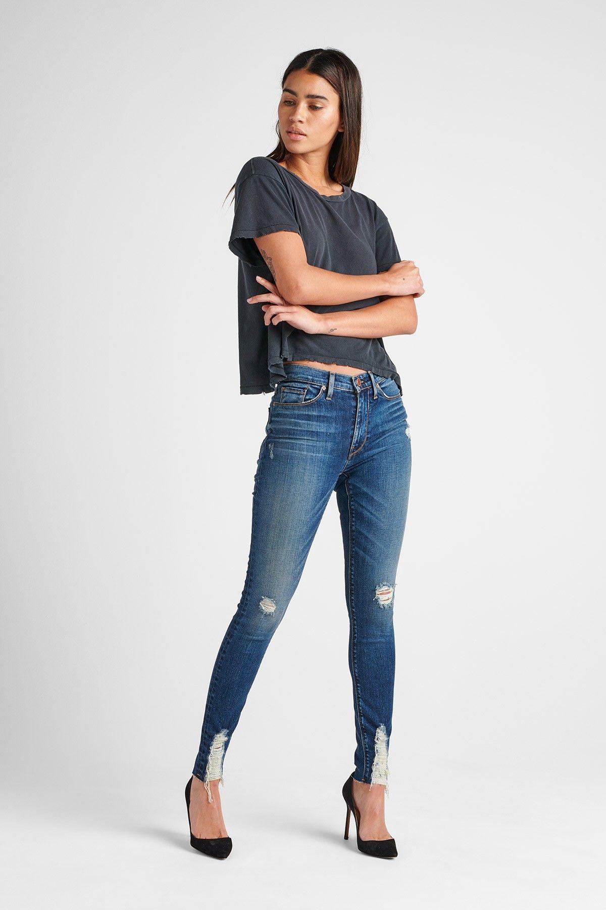 Hudson Jeans Barbara High Rise Super Skinny Ankle Jean - Lockdown 23