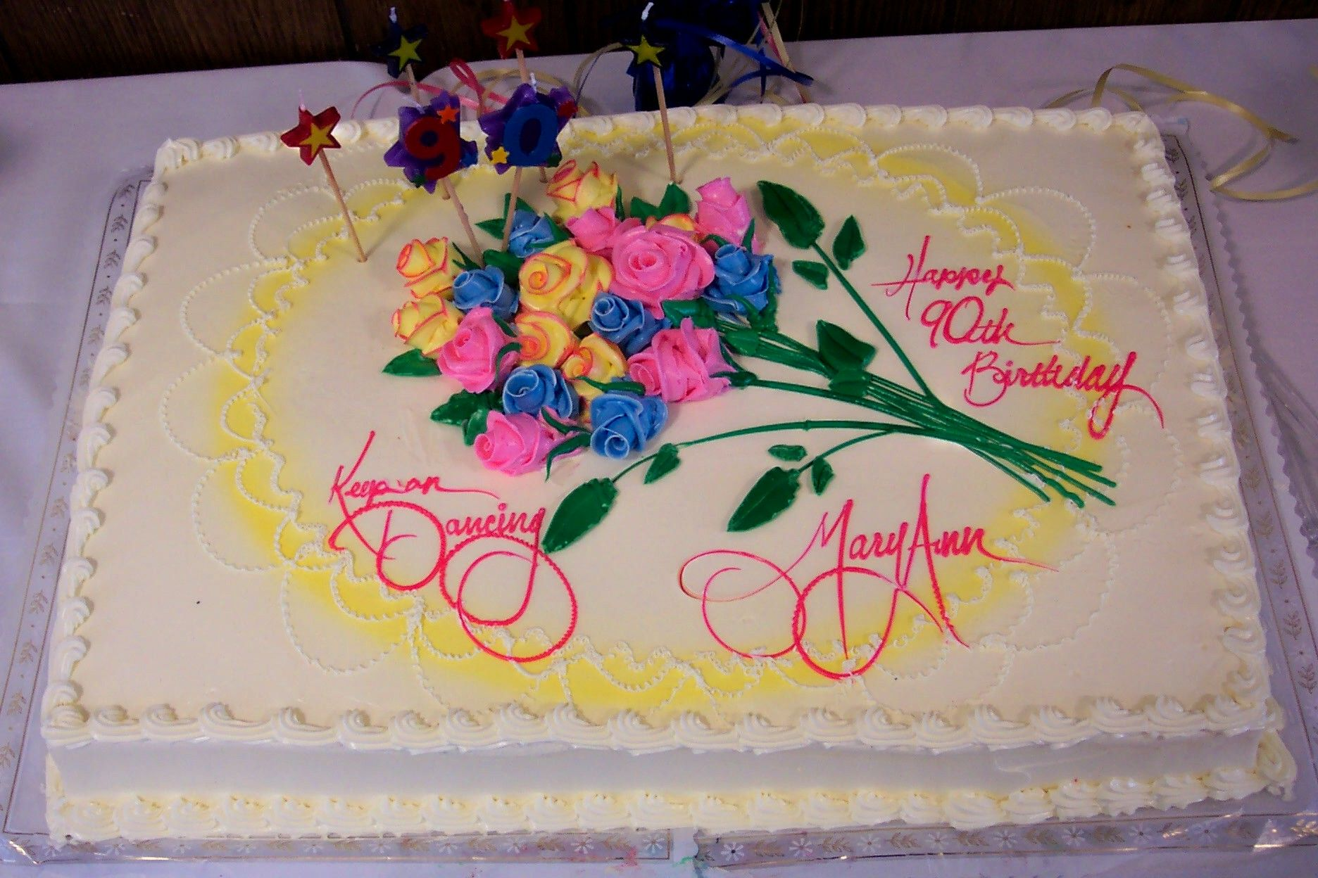 Happy Birthday Mary Cake For Her Mary Ann Starankas Cake To