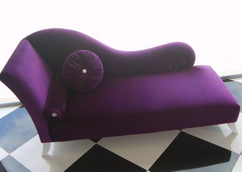 Bedroom or dressing room - without cushions Iu0027ve wanted a purple velvet chaise lounge  sc 1 st  Pinterest : how long is a chaise lounge - Sectionals, Sofas & Couches