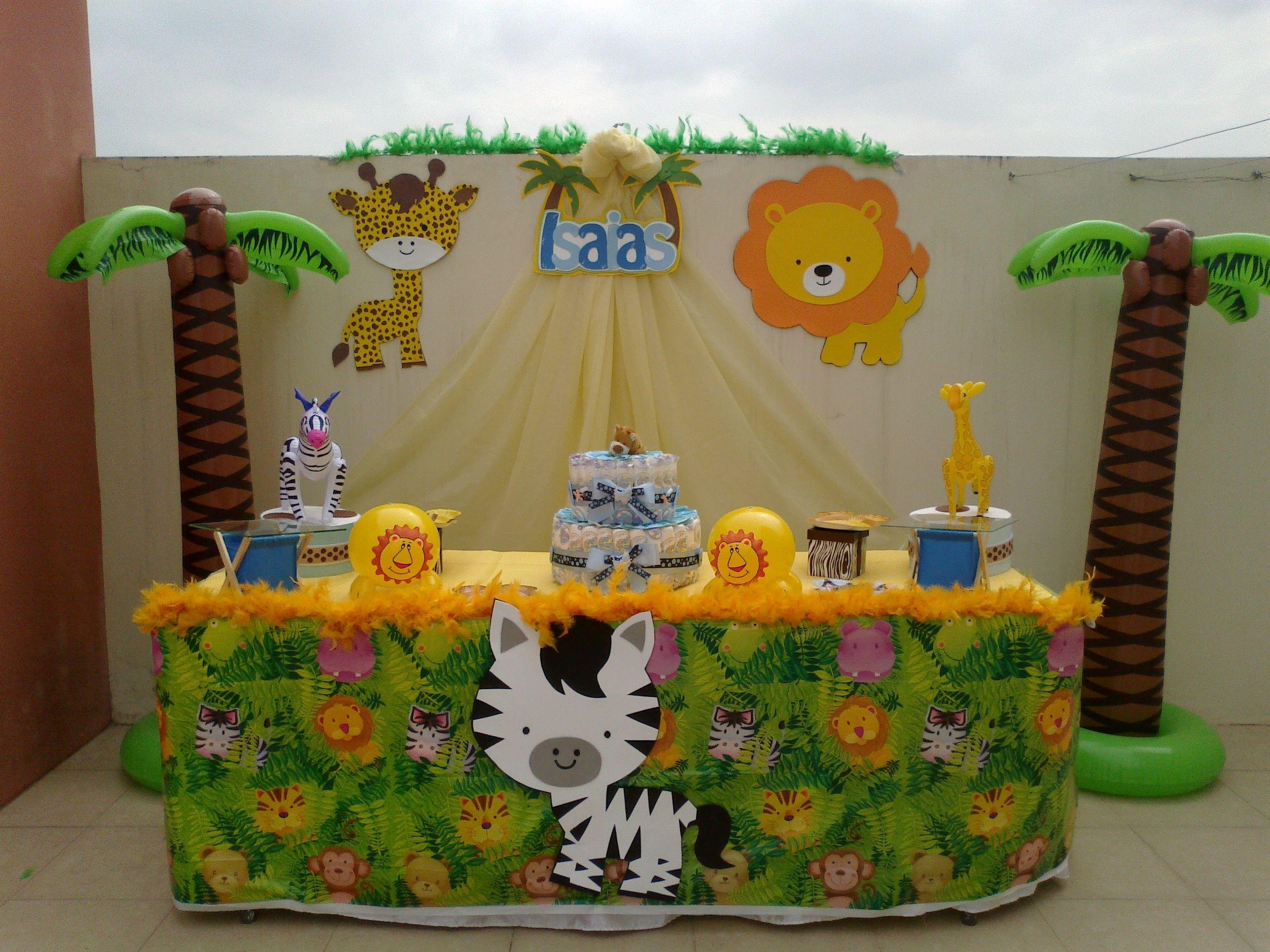 Decoracin De Baby Shower De Safari Imagui Baby Shower Zoo