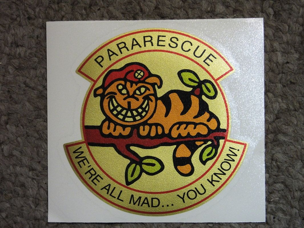 """USAF Pararescue """"We're All Mad You Know"""" Cheshire Cat"""