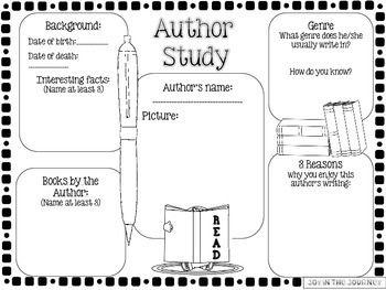 author study worksheet pdf