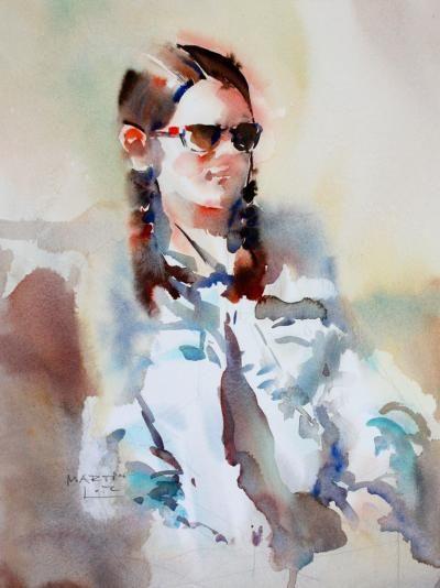 Martin Lutz akvarellkurs med martin lutz tyskland portréty
