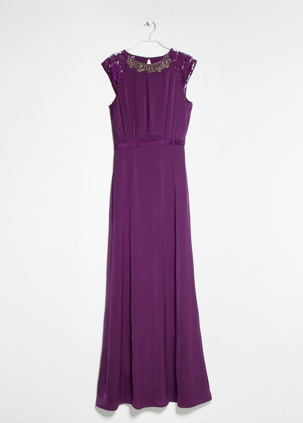 Vestido largo abalorios - Mujer | Abalorios, La espalda y Vestido largo