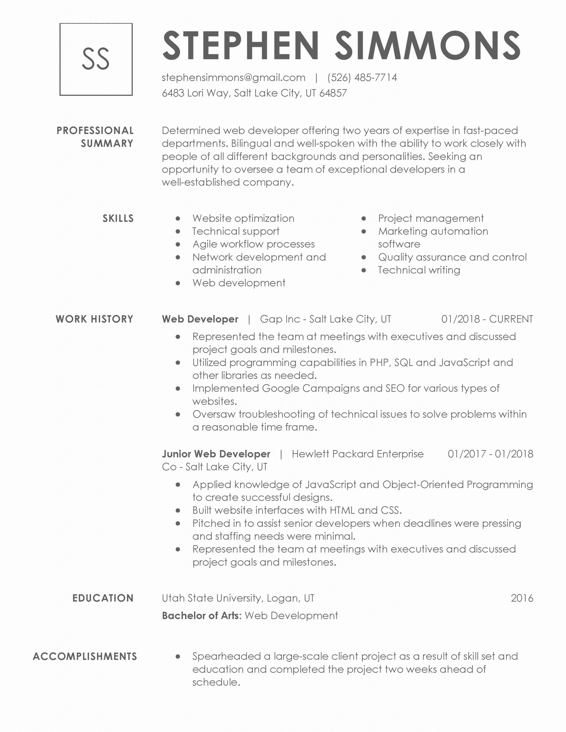 resume title must be unique