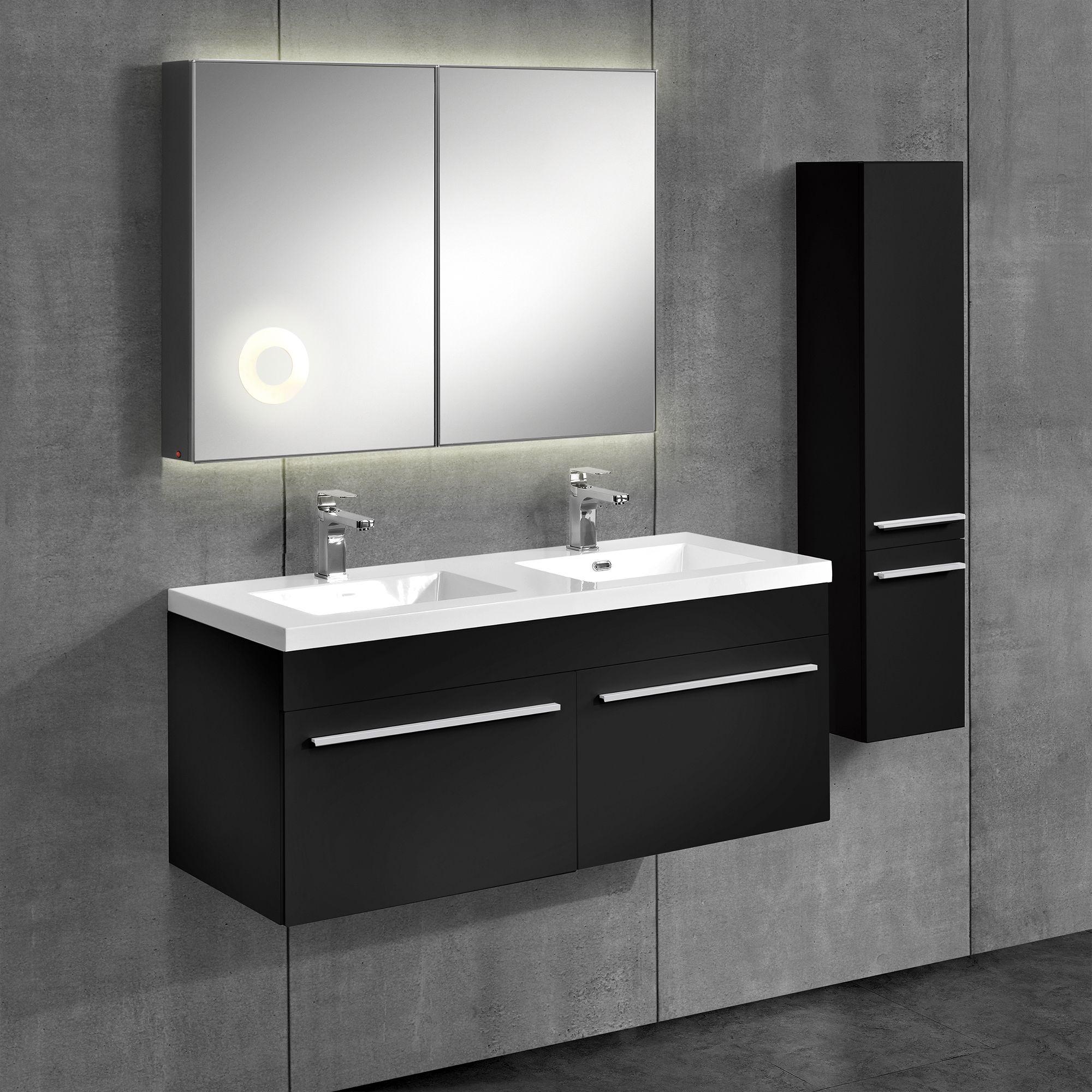 Neu Haus Badezimmerschrank Unterschrank Waschtisch Hochschrank Moebel Schwarz Unterschrank Hochschrank Badezimmer Mobel