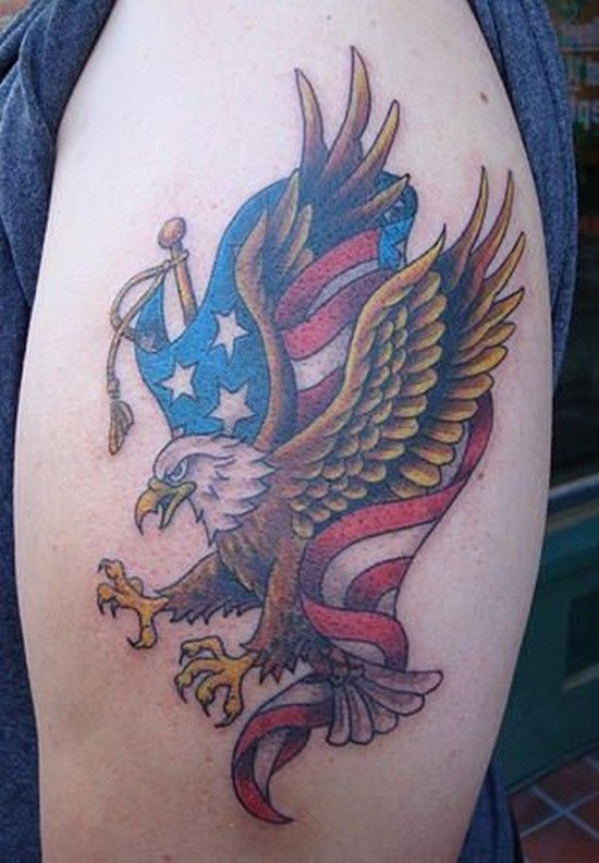 Bald Eagle + American Flag | Red, White and Blue | Eagle ...