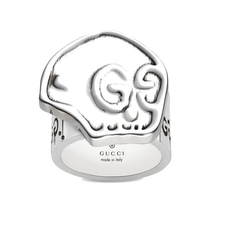 ca17f45193c Gucci GucciGhost skull ring in silver. Discover the newest range of Gucci  jewellery that has