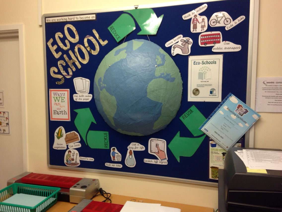 Art craft ideas and bulletin boards for elementary schools vegetable - 3d Earth For Our Eco School Board Made Earth With Mod Roc Shaped Over