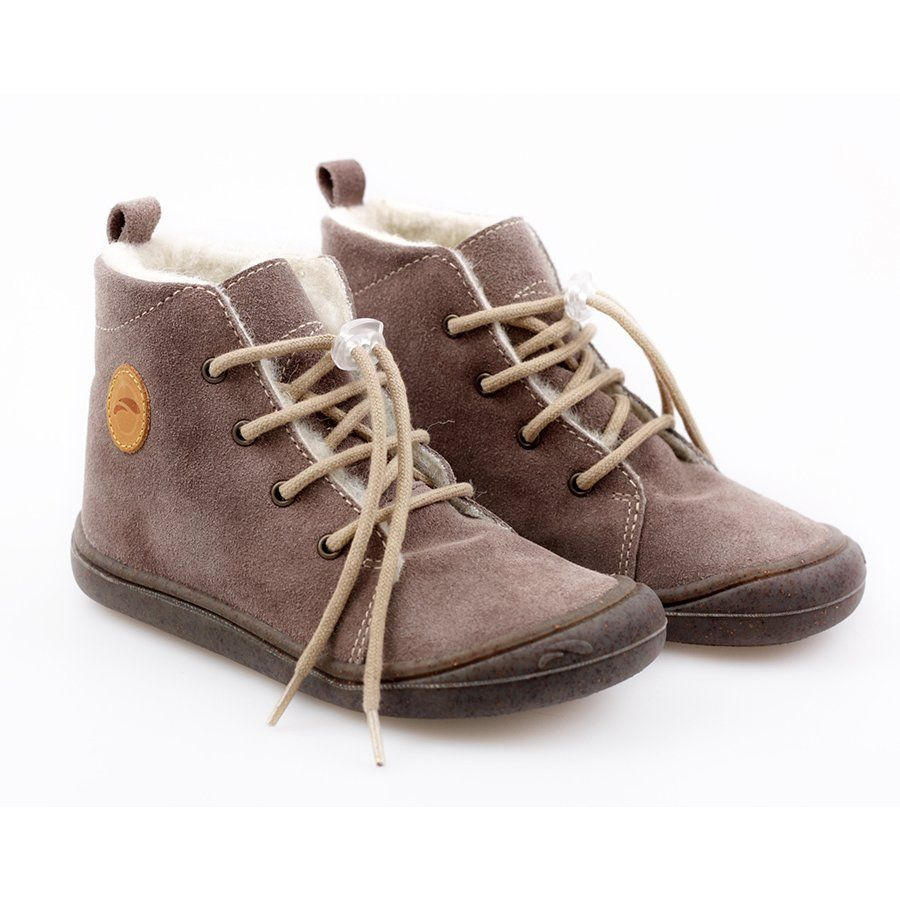 Water Repellent Wool Boots Beetle Almond 19 23 Eu Barefoot Boots Barefoot Kids Pretty Shoes